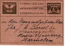 Verhuiskaart G17b Van 'sGravenhage Naar Harmelen - Entiers Postaux
