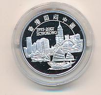 CHINA - 2007 , Rückgabe Von Hong-Kong 1997 An China   - Medaille  999 Silber PP - China