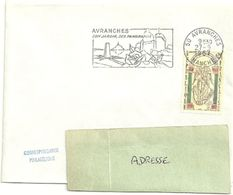MANCHE - Dépt N° 50 = AVRANCHES 1967 =  FLAMME CONCORDANTE N° 1482 MONT ST MICHEL = SECAP  'JARDINS / PANORAMAS ' - Mechanical Postmarks (Advertisement)