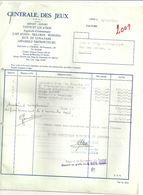 LIEGE  CENTRALE DES JEUX  Vente Et Location Juke Boxes Billards Bowling ... 5.10.1965   2 Fact - Sports & Tourisme