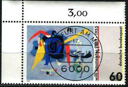 A12-03-9) BRD - Michel 1403 ECKE LIO - Zentrisch OO Gestempelt - 60Pf   Gemälde Von Willi Baumeister - [7] República Federal