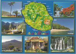 AK  Ile De La Reunion, Ind.Ozean,neue Karte - Reunion