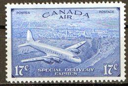 PIA - CANADA - 1946 : Francobolli Di P.A. Per Espressi - Aereo Che Sorvola Quebec  - (Yv P.A. 12) - Canada