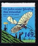 Bund 2016, Michel#  3254 O 125 Jahre Erster Gleitflug - Otto Lilienthal - BRD