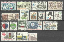 Czechoslowakia 1987-1992 Various Issues MNH - Cecoslovacchia