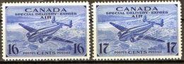 PIA - CANADA  - 1942-43   : Francobollo Di P.A. Per Espressi - Aereo Che Sorvola Drummond   -  (Yv 9-10) - Canada