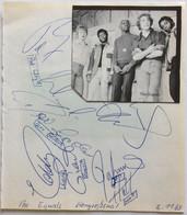 """THE EQUALS"""" English Pop Band Autograph Concert München 1969 (music Memorabilia Autographe Musique - Autographes"""