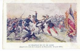 Cp REZONVILLE 57 Guerre 1870 Prusse Bismarck Casque Pointe Armée Allemande Drapeau Du 57è DE LIGNE Infanterie Francaise - Regimientos