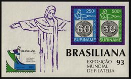 Surinam / Suriname 1993 Brasiliana Olho De Boi Stamp On Stamp S/S MNH - Surinam