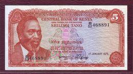 KENYA  - 5 SHILLINGS Mzee Jomo Kenyatta - 01/01/1975. P.11b - Kenya