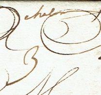 "SAONE ET LOIRE 71 CHALON SUR SAONE  LAC Du 24/10/1724 Marque Manuscrite ""Chalon"" Taxe 3 TTB - Postmark Collection (Covers)"