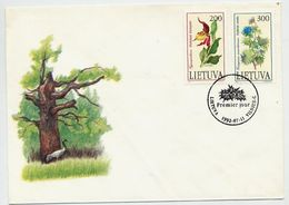 LITHUANIA 1992 Endangered Plants On FDC.  Michel 499-500 - Lituanie