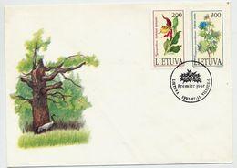 LITHUANIA 1992 Endangered Plants On FDC.  Michel 499-500 - Lithuania