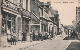 Vibraye Rue De L Eglise Belle Animation - Vibraye