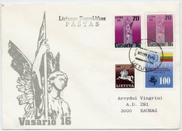 LITHUANIA 1991 Independence Anniversary Stationery Envelope, Used Inland.  Michel U12 - Lithuania