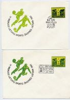 LITHUANIA 1991 Lithuanian World Games Stationery Envelope, Two Different Shades And Postmarks.  Michel U14 - Lithuania