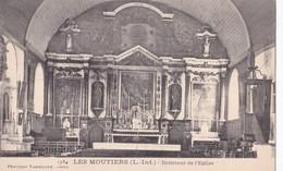 Carte 1910 LES MOUTIERS EN RETZ / INTERIEUR DE L'EGLISE - Les Moutiers-en-Retz