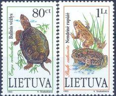 LT 1993-545-6 FAUNA, LITHUANIA, 1 X 2v, MNH - Reptiles & Batraciens