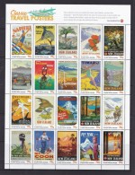 New Zealand 2013 Classic Travel Posters Sheet MNH - New Zealand