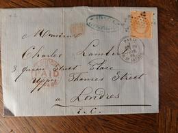 30.01.18.LAC De   Paris Etoile 3 Du N°23 ! Pour Londre - Postmark Collection (Covers)