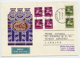 LITHUANIA 1991 Airmail Cover, Used To Denmark.  Michel 472, 481 - Lithuania