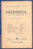 Rumänien; Romania; Revista Orizontul Nr 5-6 1906 - Bücher, Zeitschriften, Comics