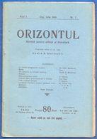 Rumänien; Romania; Revista Orizontul Nr 7 1906 - Bücher, Zeitschriften, Comics