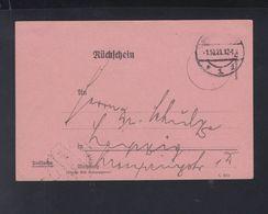 Dt. Reich Rückschein 1921 - Briefe U. Dokumente