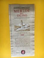 5720 -  Merlot Del Ticino 1989 Suisse - Etiquettes