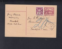 Czechoslovakia Stationery Haatsch Tax - Storia Postale