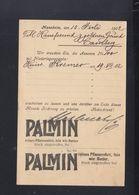 Dt. Reich PK Palmin 1902 - Werbepostkarten