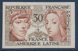 FRND 1956 Amitié France-Amérique Latine  Non Dentelé N° YT 1060 ** MNH  (exB) - France