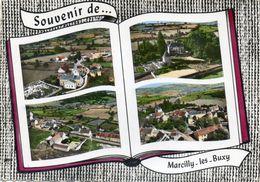 CPSM Dentelée - MARCILLY-les-BUXY (71) - Carte Multi-vues Au Livre Ouvert En 1965 - France