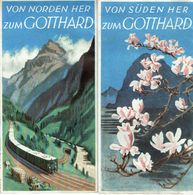 Ancien Dépliant Von Süden (Von Norden) Her Zum Gotthard - Dépliants Touristiques