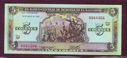 LE SALVADOR - 5 Colones Christophe Colomb - 16/05/1990 - P.138a - El Salvador