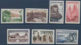 FRND 1957 Série Touristique  Non Dentelé N° YT 1125-1131 ** MNH - France