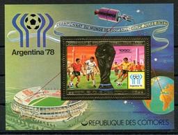 RC 6807 COMORES - ARGENTINA 78 COUPE DU MONDE DE FOOTBALL BLOC FEUILLET NEUF ** TB - Komoren (1975-...)