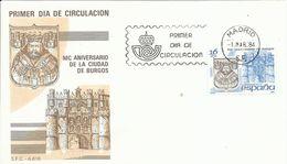 España. 1984. MC. Aniversario De La Ciudad De Burgos Y Las Fallas De Valencia. - FDC