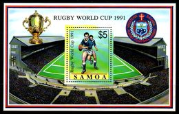 SAMOA. BF 49 De 1991. Coupe Du Monde De Rugby. - Rugby
