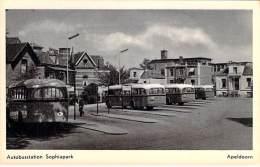 AUTOBUSSTATION Gare Autobus (NL) NEDERLAND Pays-Bas - APELDOORN : Autobus Station Sophia Park - CPSM Photo PF - Buses & Coaches
