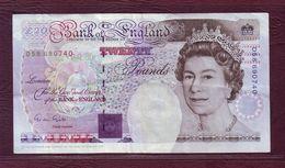 ROYAUME UNI  -  20 POUND Elisabeth II / Michael Faraday - 1991 - P.384a - 1952-… : Elizabeth II