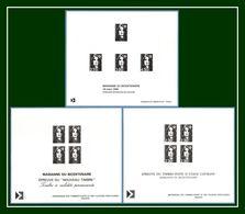 3 Gravures Diff. Epreuves Collectives Mariane De Briat (sous Faciale Under Face Value) Gravure Epreuve Bicentenaire - 1989-96 Marianna Del Bicentenario