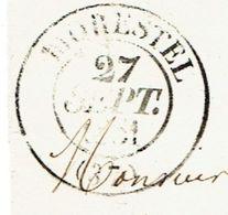 ISERE 38 MORESTEL LAC TAD Type 13 Du 27/09/1851 Taxe 25 DT TTB - 1849-1876: Période Classique
