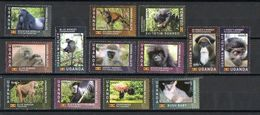 2017 UGANDA - Primates - Stamps