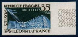 FRND 1958  Exposition Universelle De Bruxelles  -   Non Dentelé -  N° YT 1156 * MNH Bord De Feuille - France