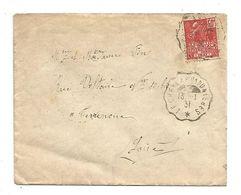 AMBULANT DE LE CHEYLARD à DUNIERES DU 13/1/1931 - Marcophilie (Lettres)