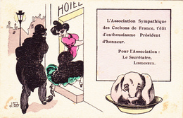 CPA  Prostituée Prostitution Cochon Porc Pig Libidineux Humour Illustrateur J. FARDY - Illustrators & Photographers