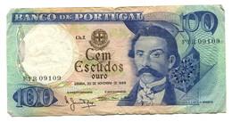 1965 Portugal 100 Escudos Banknote - Portugal