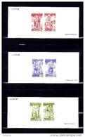 """"""" SANTONS DE PROVENCE """" Sur 3 Gravures Officielles De 1995. En Parfait état ( N° YT 2976 à 2981 ) - Documentos Del Correo"""