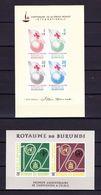 Burundi 1963 Blok 1 En 2 Ongetand **, Zeer Mooi Lot 3942 - Collections (sans Albums)